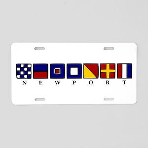 Nautical Newport Aluminum License Plate