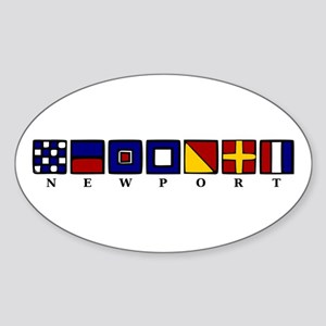 Nautical Newport Sticker (Oval)