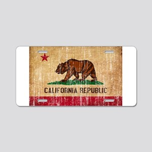 California Flag Aluminum License Plate