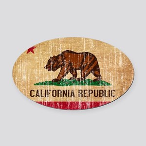 California Flag Oval Car Magnet