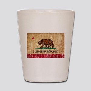 California Flag Shot Glass