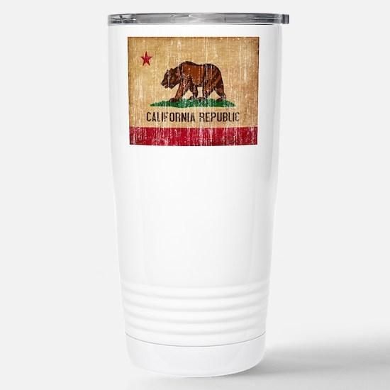 California Flag Stainless Steel Travel Mug