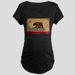 California Flag Maternity Dark T-Shirt