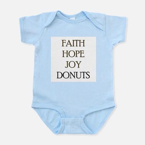 FAITH HOPE JOY DONUTS Infant Bodysuit