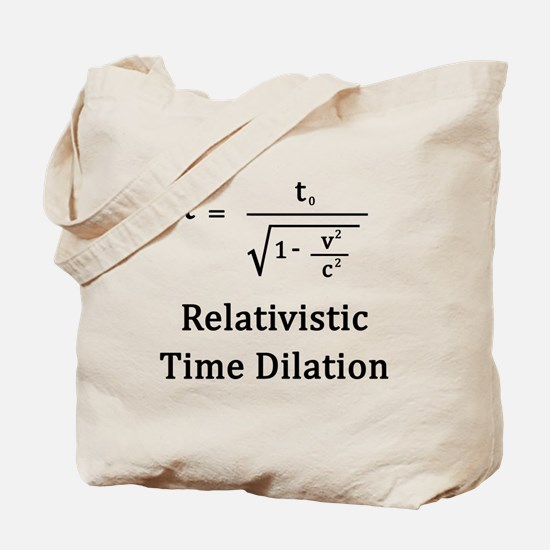 Relativistic Time Dilation Tote Bag
