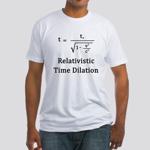 Relativistic Time Dilation Fitted T-Shirt