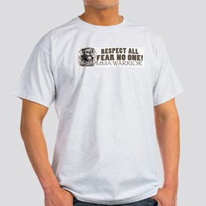 Respect All Fear No One MMA Gear Ash Grey T-Shirt