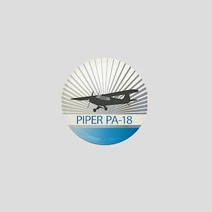 Aircraft Piper PA-18 Mini Button