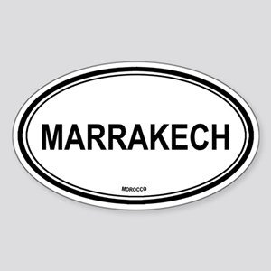 Marrakech, Morocco euro Oval Sticker