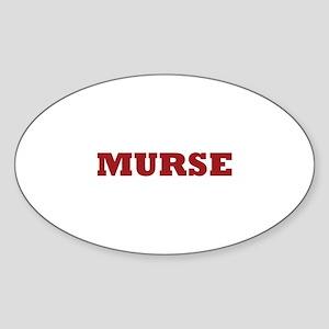 Murse - Male Nurse Sticker (Oval)