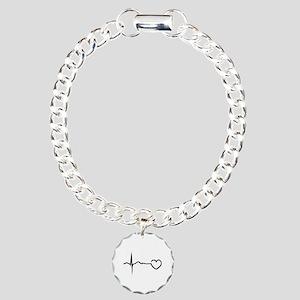 Heartbeat Charm Bracelet, One Charm