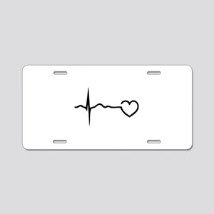 Heartbeat Aluminum License Plate