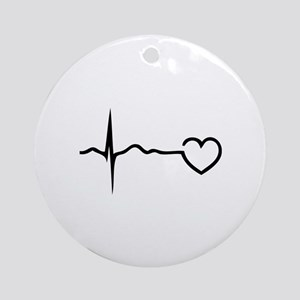 Heartbeat Ornament (Round)