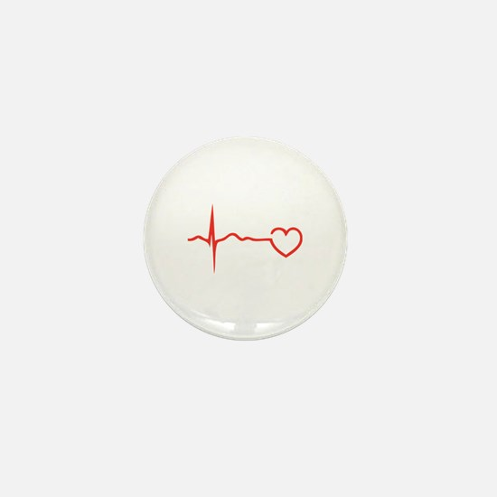 Heartbeat Mini Button
