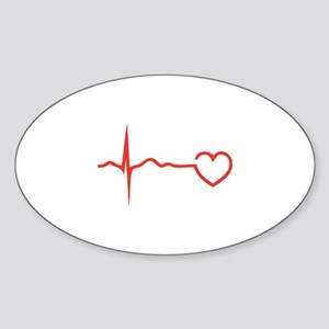 Heartbeat Sticker (Oval)