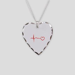Heartbeat Necklace Heart Charm