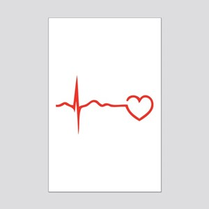 Heartbeat Mini Poster Print
