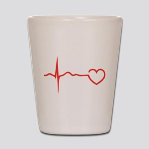 Heartbeat Shot Glass