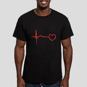 Heartbeat Men's Fitted T-Shirt (dark)