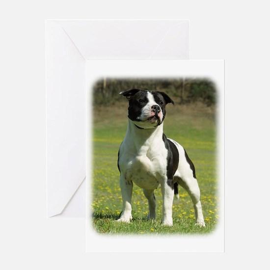 Staffordshire Bull Terrier 9F44D-10 Greeting Card