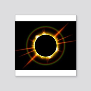 """Ring of Fire Eclipse Square Sticker 3"""" x 3"""""""
