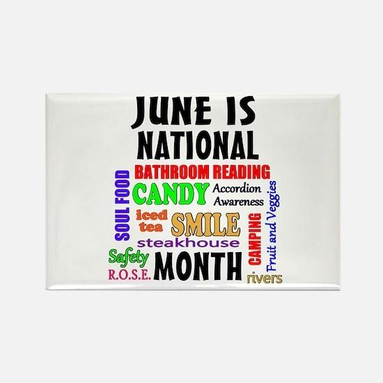 June National Month Rectangle Magnet