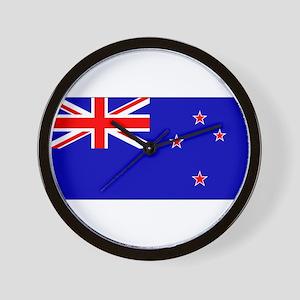 New Zealander Blank Flag Wall Clock