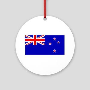 New Zealander Blank Flag Christmas Ornament