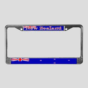 New Zealander Blank Flag License Plate Frame
