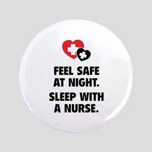 """Feel Safe At Night 3.5"""" Button"""