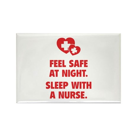 Feel Safe At Night Rectangle Magnet
