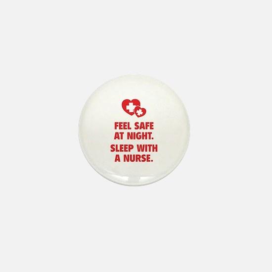 Feel Safe At Night Mini Button