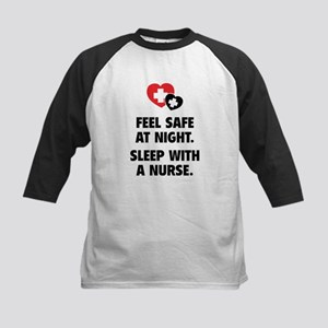 Feel Safe At Night Kids Baseball Jersey