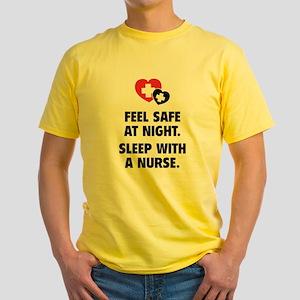 Feel Safe At Night Yellow T-Shirt