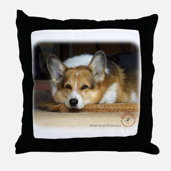 Welsh Corgi Pembroke 9R022-030_2 Throw Pillow