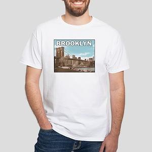 Brooklyn Bridge White T-Shirt