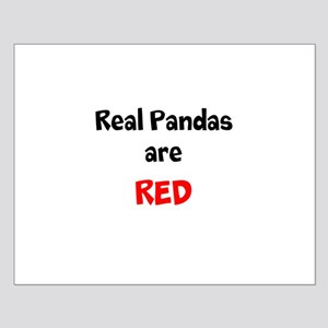 Real Pandas are Red Small Poster