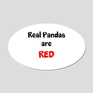 Real Pandas are Red 22x14 Oval Wall Peel
