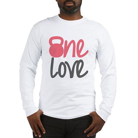 Pink One Love Kettlebell Long Sleeve T-Shirt