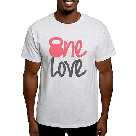 Pink One Love Kettlebell Light T-Shirt