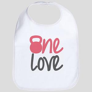 Pink One Love Kettlebell Bib