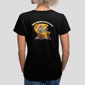 Safe at Last Women's V-Neck Dark T-Shirt