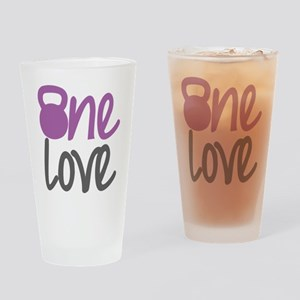 Purple One Love Kettlebell Drinking Glass