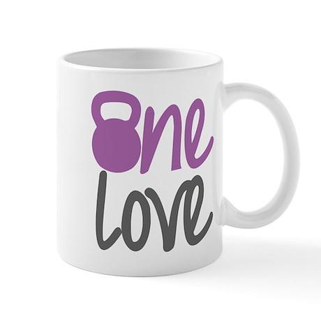 Purple One Love Kettlebell Mug