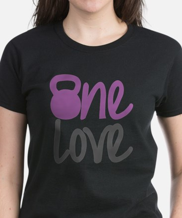 Purple One Love Kettlebell Women's Dark T-Shirt