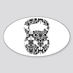 Damask Kettlebell Sticker (Oval)