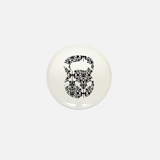 Damask Kettlebell Mini Button