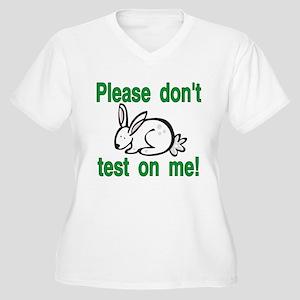stop animal testing bunny Plus Size T-Shirt