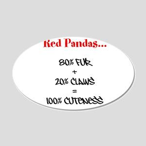 100% Cuteness 22x14 Oval Wall Peel