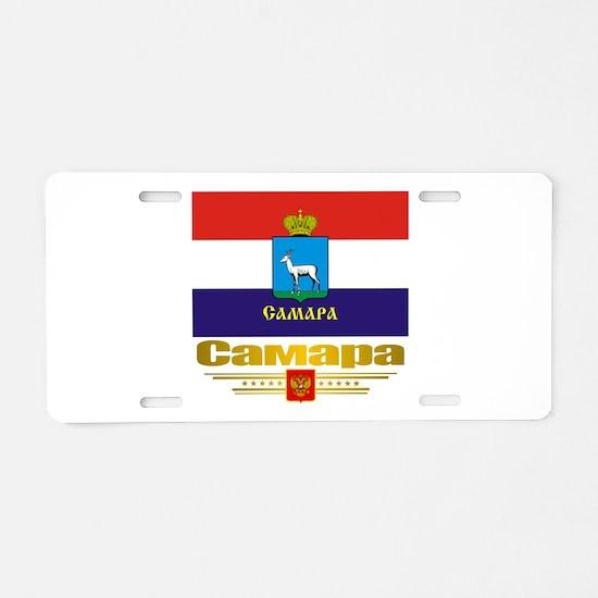Samara Flag Aluminum License Plate